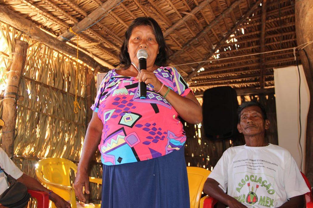 Encontro sobre direitos indígenas na TI Apinajé. Foto: Laudovina Pereira/Cimi Goiás-Tocantins