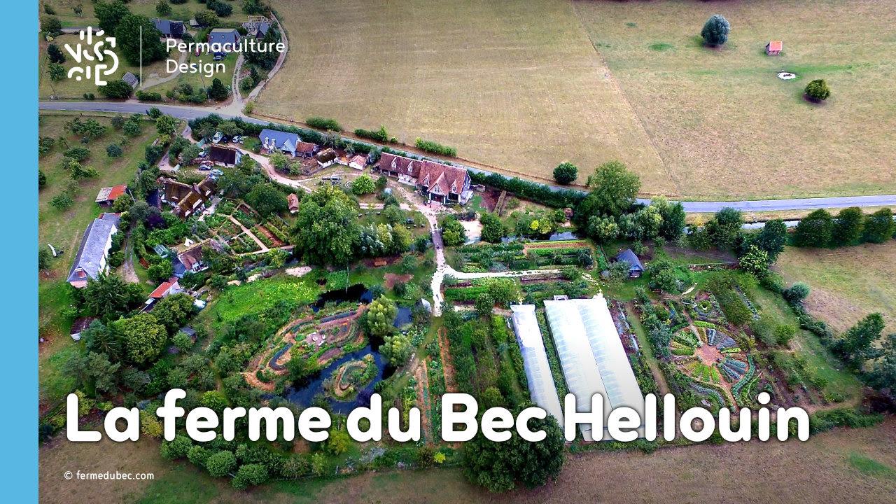 Image aérienne de la Ferme du Bec Hellouin