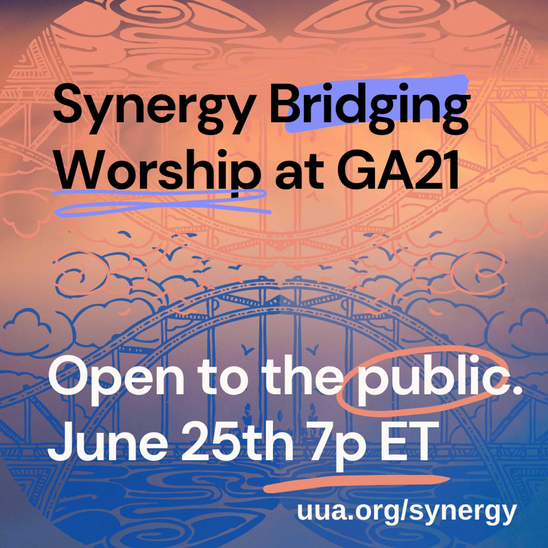 infographic - synergy bridging worship at ga2021