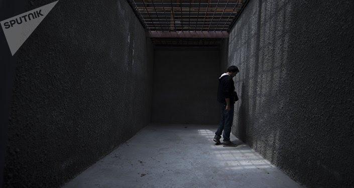 Un preso en una cárcel
