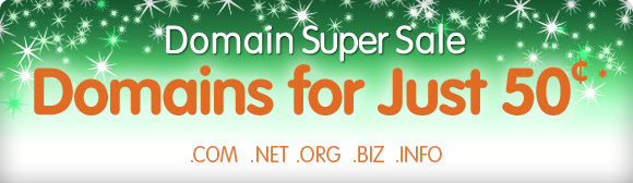 Domain Super Sale - Domains for just 50?