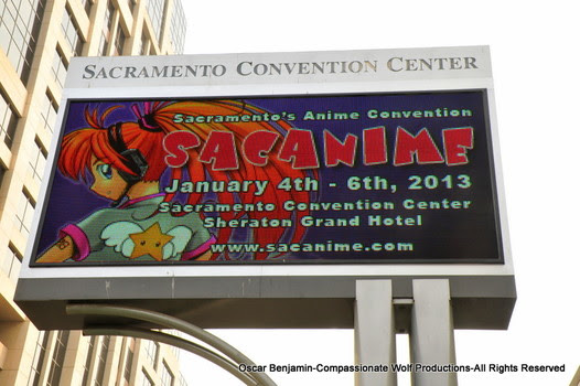 Sacramento Convention Center Marquee.  Photo by Oscar Benjamin.