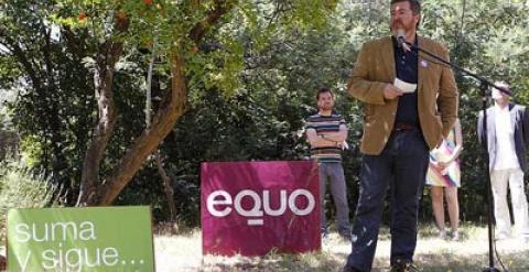 Juan López de Uralde en la presentación oficial de Equo, en Madrid./ PÚBLICO Mónica Patxot