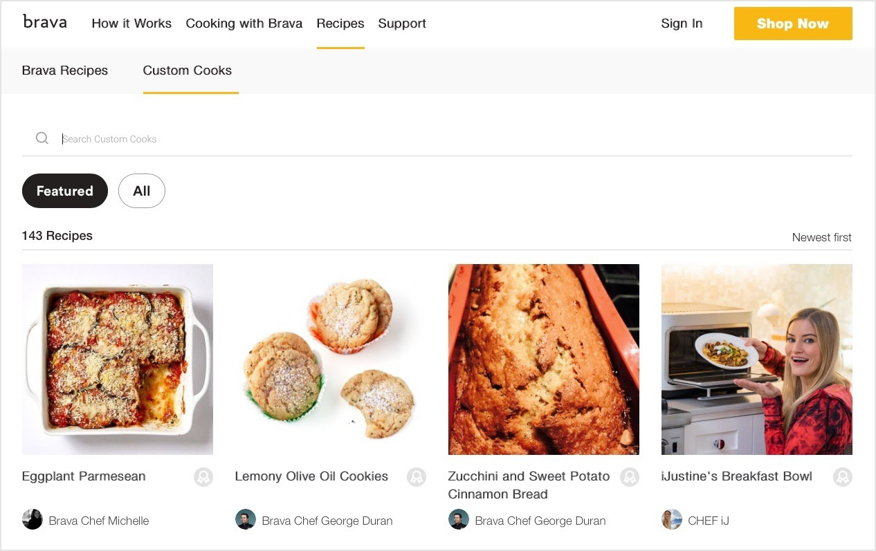 Web Custom Cook Search