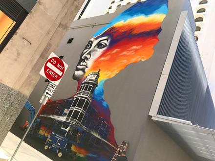 This June Third Friday, come see downtown's bold new mural, enjoy a cocktail on us, and hear about the colorful character and namesake who inspired this piece.  Join artists Hugo Medina and Darrin Armijo-Wardle, Downtown Phoenix Inc., and Renaissance Hotel for a dedication and cocktail