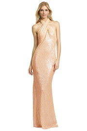 Badgley Mischka Champagne Fizz Gown