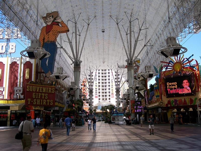 When the sun goes down, Fremont Street turns on the lights, so the fun doesn't stop.