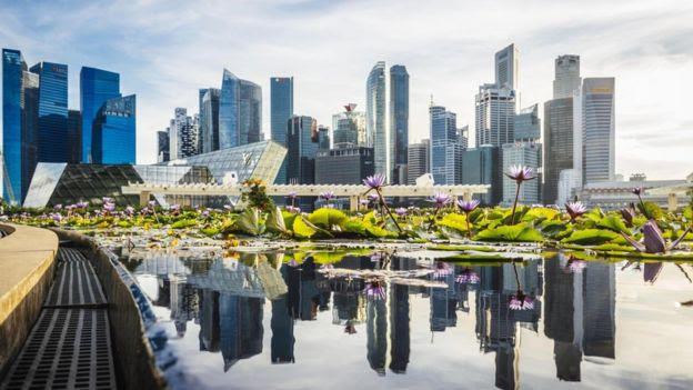 Derechos de autor de la imagen GETTY IMAGES Image caption Gran parte de la limpieza que puede apreciarse en Singapur se debe a las altas multas que el gobierno impone a quienes tiran basura.