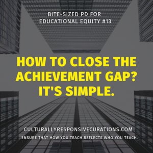 How to close the achievement gap?