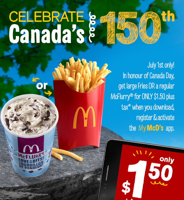 Mcdonald S App 1 50 Large Fries Or Mcflurry July 1st West Only