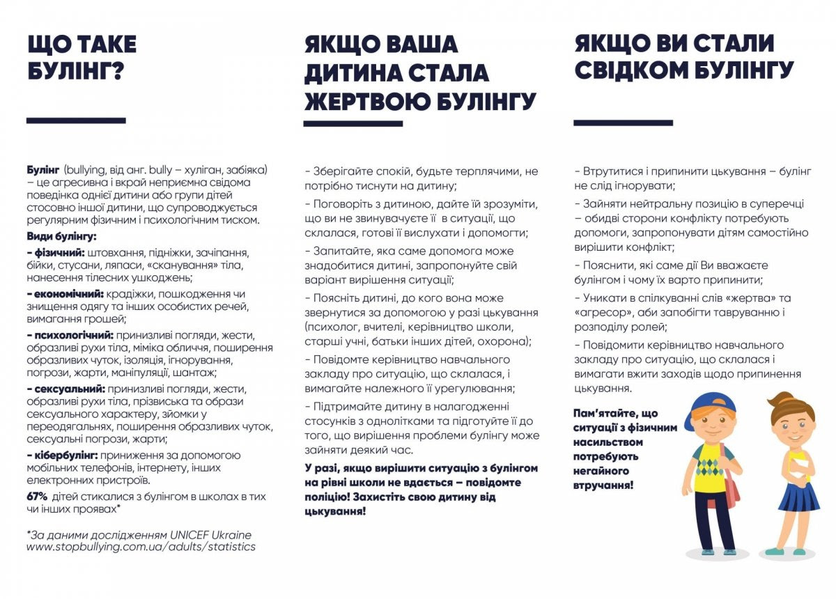 Булінг, інформаційна кампанія