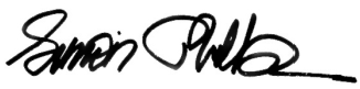 Simon Philbin Signature