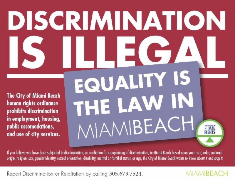Discrimination is Illegal