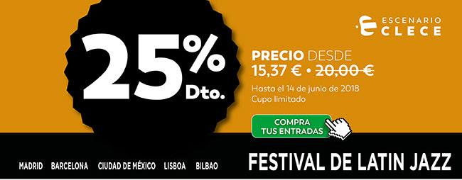 25% DTO. precio desde 15,37€ . Escenario Clece. Compra tus entradas