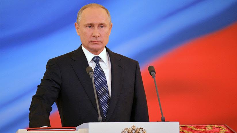 VIDEO: Vladímir Putin jura el cargo como presidente de Rusia