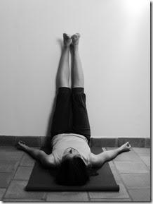 posture des jambes au mur