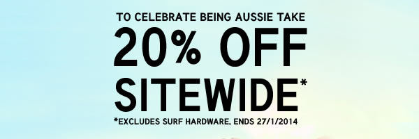 Save 20% Off Sitewide + 60% OFF Sale Items  Standard Delivery On All Orders Over $30 in Australia at Box13.com.au