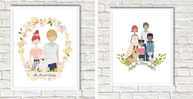 HOT!! Custom Family Portrait..