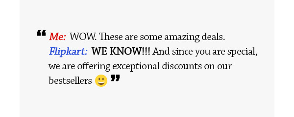 Since you are special, these are some special deals for you