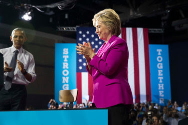 President Obama campaigned with Hillary Clinton at a rally in Charlotte, N.C., on Tuesday.
