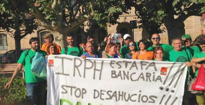 Manifestación de un grupo de afectados de Barcelona.