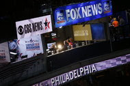 The Fox News broadcast booth last week at the Democratic National Convention in Philadelphia.
