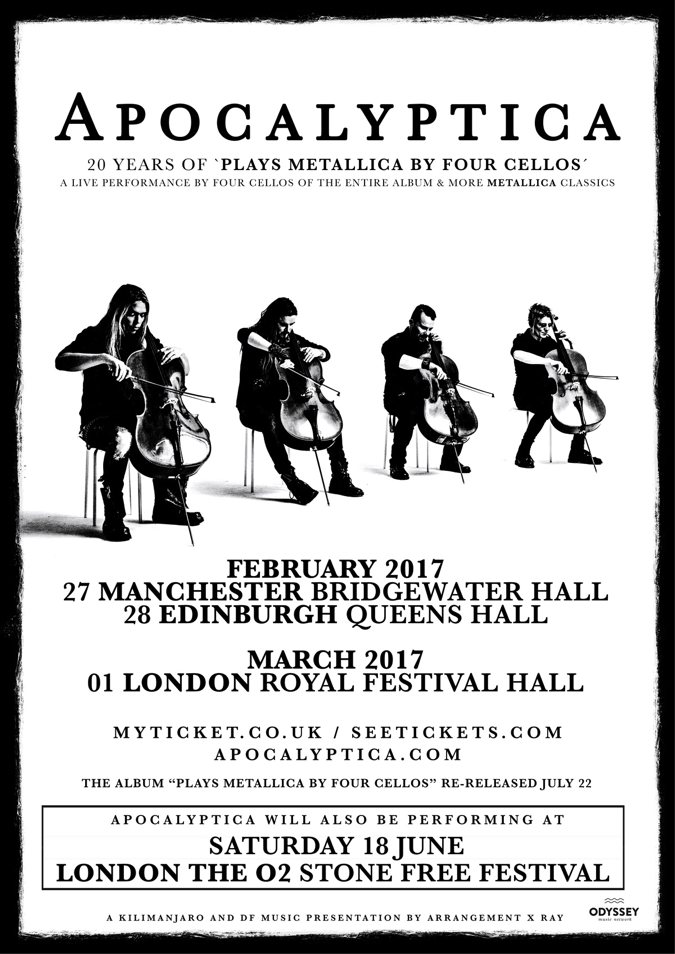 a4ac8919-a20f-4e69-8d93-7f7ab18a976b APOCALYPTICA - signed CD WINNER : - 20 years of 'PLAYS METALLICA BY FOUR CELLOS'