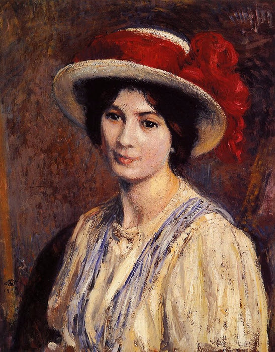 hat-with-a-red-ribbon-1908 (547x700, 505Kb)