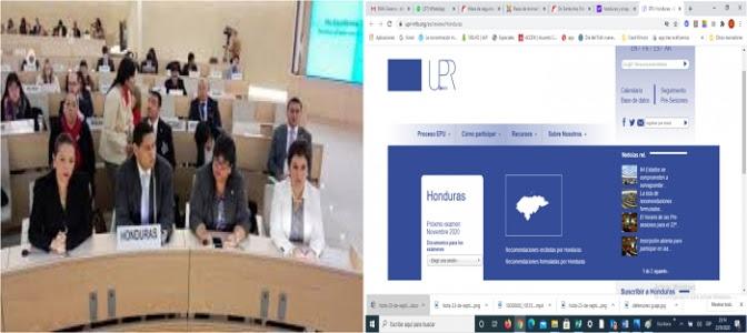 Honduras estará en el banquillo el 13 de noviembre próximo para ser evaluado por el Consejo de Derechos Humanos de la ONU