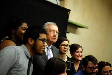 Senator Harry Reid, Democrat of Nevada and the minority leader, at an awards dinner last week for Battle Born Progress in Las Vegas. He is retiring from the Senate.