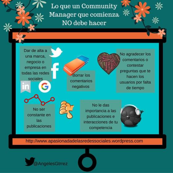 Lo que no debe hacer una Community Manager que comienza