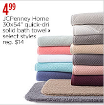 "JCPenney Home 30x54"" quick-dri solid bath towel"