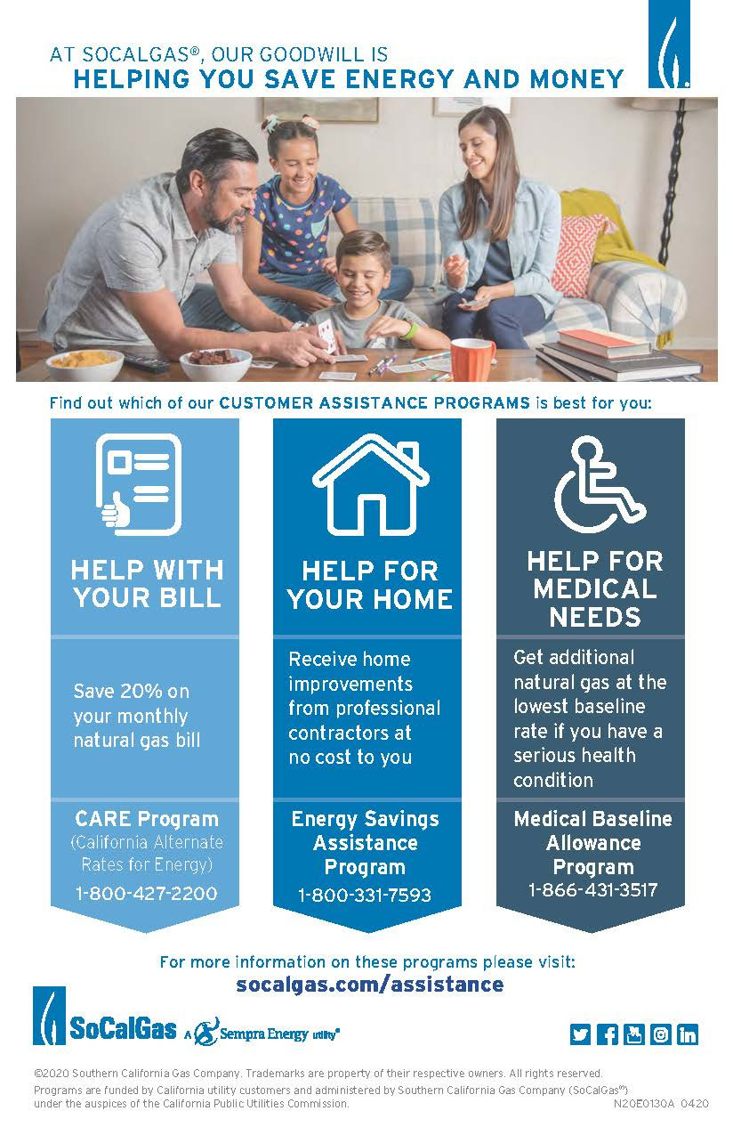 The Gas Company Assistance Programs