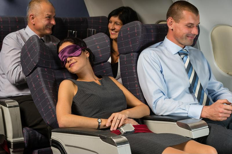 Doing what you can to get some sleep is great for surviving a long flight.