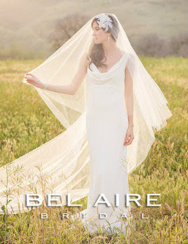 Bel Aire Bridal Wedding Veil V7234 -Fold over cut edge veil