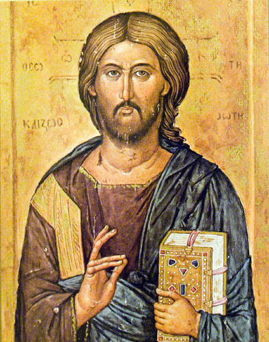 Icon of Christ Pantocrator from Macedonia, 14th c.