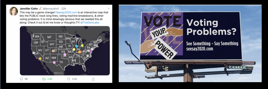 See Say 2020 has been featured on billboards in South Carolina and praised by Jennifer Cohn.