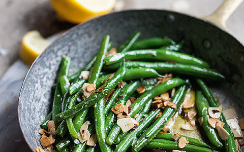 Side of Green Beans with Butter Toasted Almonds