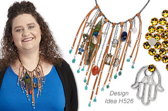 Bib-Style Necklace and Earring Set
