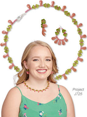 Single-Strand Necklace with Earring Set (Project J725)