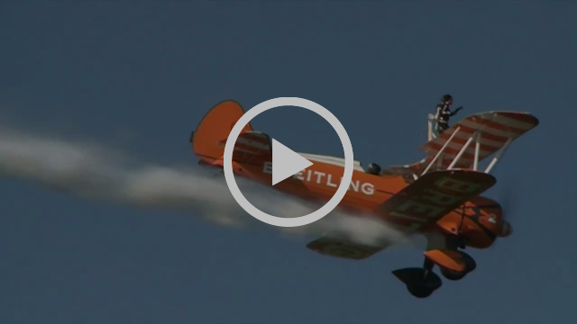 The Breitling Wingwalkers perform at Sywell Classic: Pistons & Props 2017