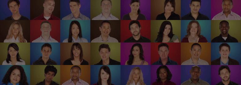 Montage of young people's faces