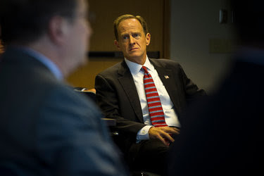 Senator Patrick J. Toomey, Republican of Pennsylvania, faces an uphill fight for re-election with Donald J. Trump at the top of the ticket.