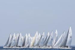 J/80 Worlds starting line- Kiel, Germany