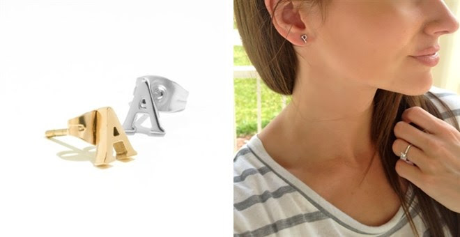 *HOT* Initial Stud earrings...