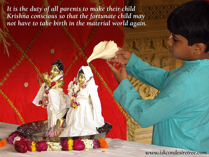 Quotes by Srila Prabhupada on Duty of The Parents