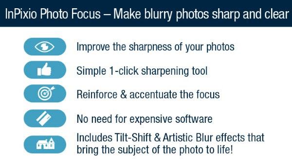 InPixio Photo Focus Sharp Clear Features