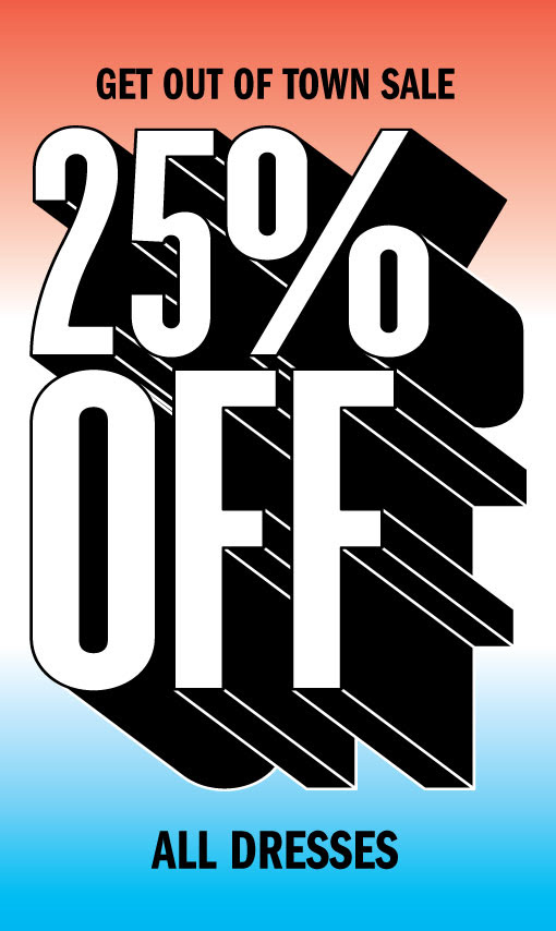 Save 25% OFF ALL Dresses, Mens Tanks & Shorts (Including Already Reduced) @ UrbanOutfitters.com