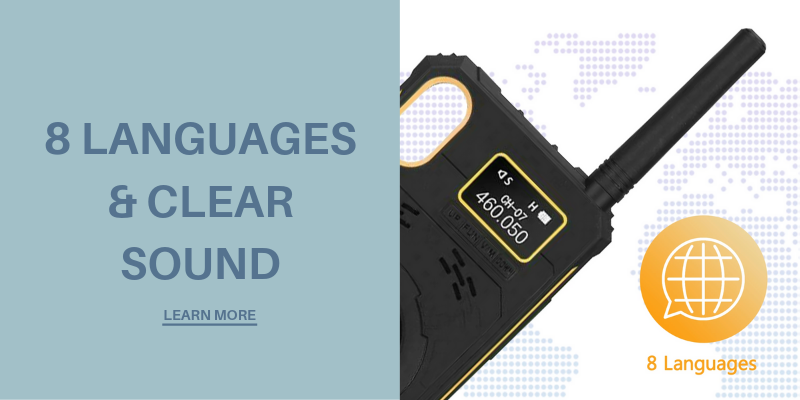 8 Languages & Clear Sound