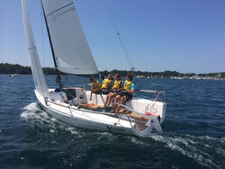 J/70s sailing Ugotta Regatta with youth team